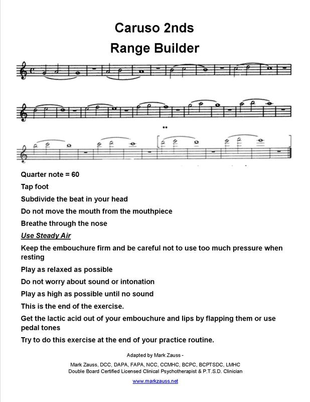 Mark Zauss  Range Building exercises for Trumpet players